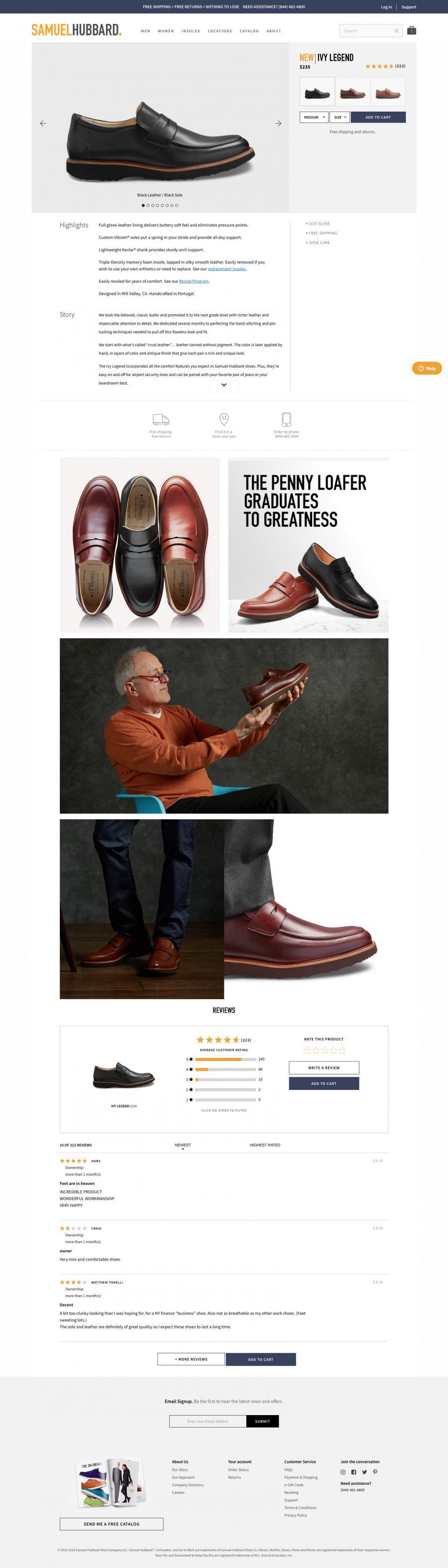 Samuel Hubbard Comfy Shoes