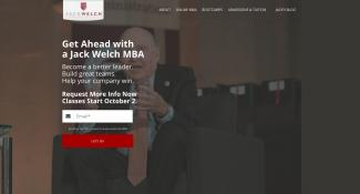 Jack Welch MBA Landing Page