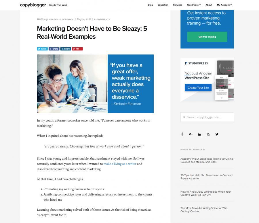 CopyBlogger Content