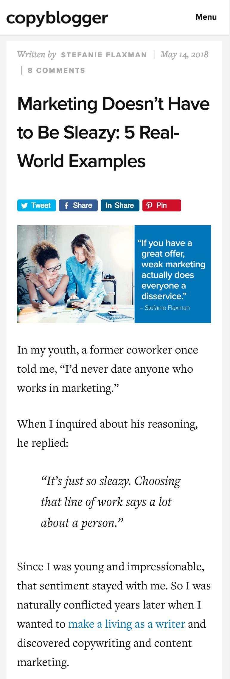 CopyBlogger Content Creation