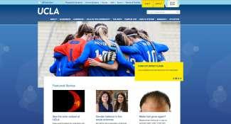 UCLA Bruins Home Page Design