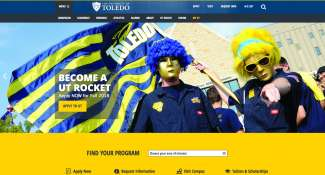 University Of Toldeo Home Page Design