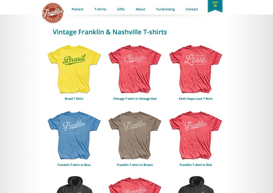 Vintage Franklin T-Shirts Category Page
