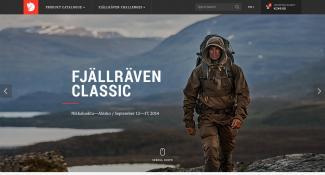 Fjällräven Ecommerce Home Page