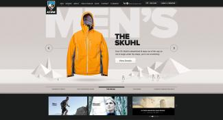 KUHL Ecommerce Home Page