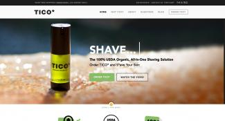 Tico Shave Ecommerce Home Page