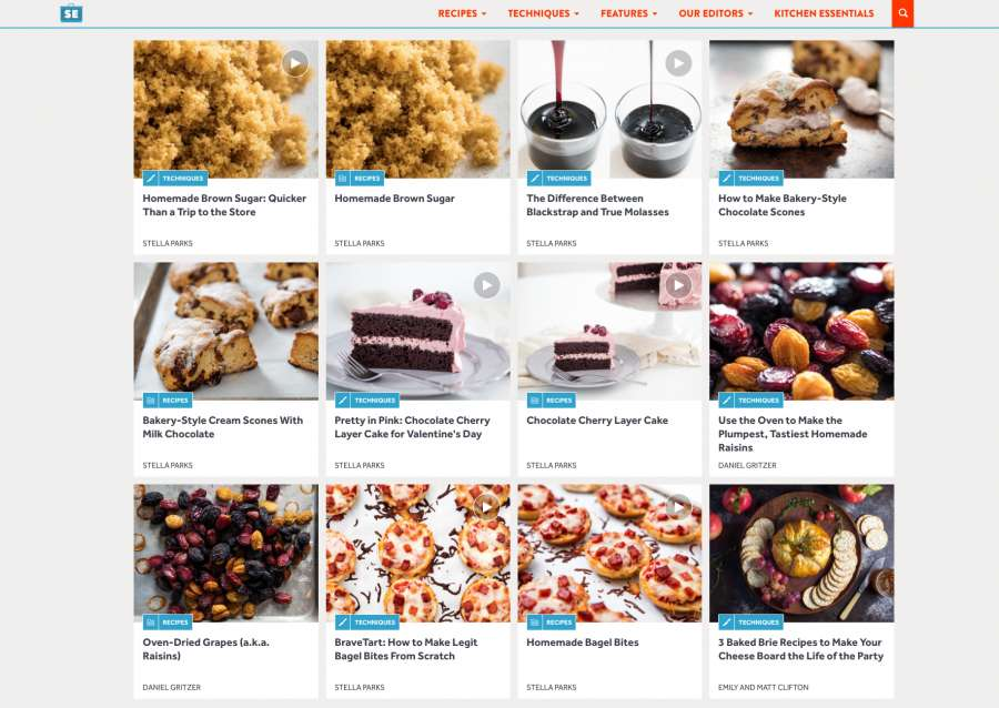 Serious Eats Blog Gallery Layout