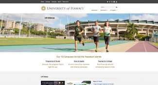 University Of Hawaii Home Page Design