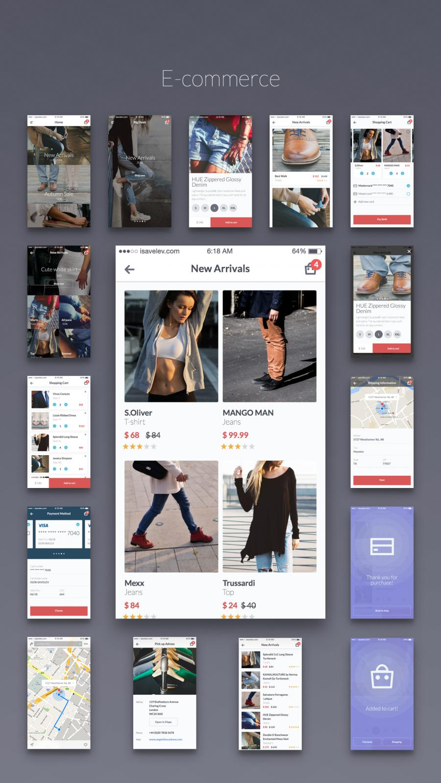 Mobile Ecommerce App Theme