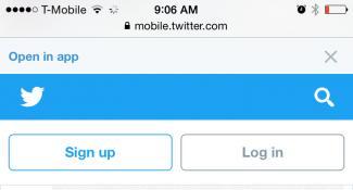 Mobile Web Twitter