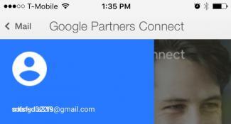 Google Mail Mobile App Menu