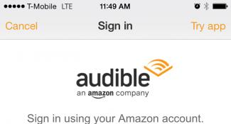 Audible By Amazon Mobile Login Form