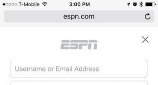 ESPN Login Page