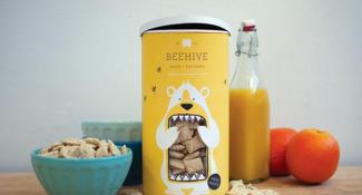 Beehive Honey Squares Packaging