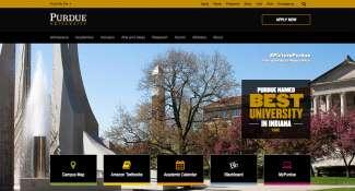 Purdue University Home Page Design